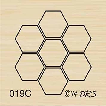 Beehive rubber stamp WM P39 square
