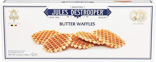 Jules Destrooper Butter Waffles, Belgian Vanilla Flavored Butter Cookies, 3.52-Ounce Box (Pack of 12) -
