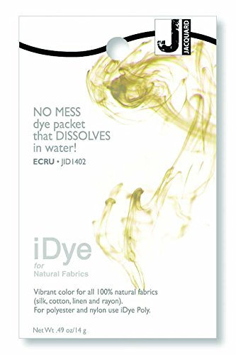 Fabric Dye Art (Jacquard iDye Fabric Dye 14 Grams-Ecru)