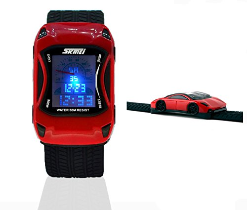 Kids Watches Boys Girls Waterproof Sports Rubber Digital LED Wristwatches for Children,1 Year Warranty