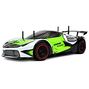 Velocity Toys Remote Control 2.4 GHz 1:10 Scale RTR Piranha Racer Supercar with Lithium Battery