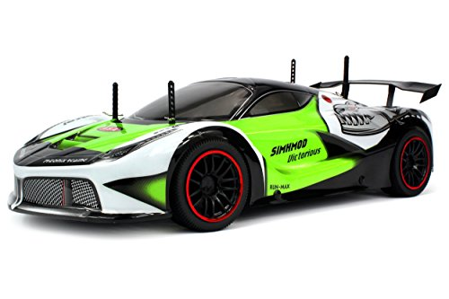 Velocity Toys Remote Control 2.4 GHz 1:10 Scale RTR Piranha Racer Supercar with Lithium Battery (18 Traxxas Aluminum 1 Parts)