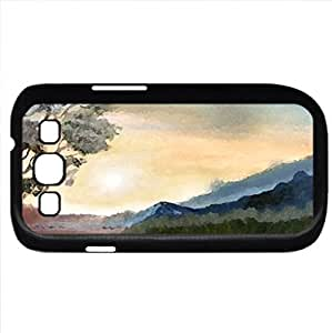 End of the Day (Lakes Series) Watercolor style - Case Cover For Samsung Galaxy S3 i9300 (Black)