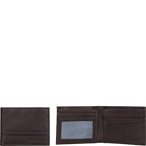 Ben Sherman Leather Bi-Fold Five Pocket Wallet with Id Window (Rfid)