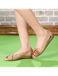 YFF Plus size(35-43)Genuine leather Sandals Women Summer open toe flat sandals crystal shoes Wedges Casual platform Women sandal