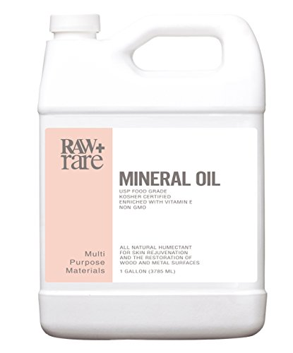 Laxative Foods - Mineral Oil Gallon, Food Grade Safe Wood/Bamboo Oil, Cutting Board, Butcher Block Conditioner, Knife Blade, Cast Iron Tools, Pans for Food Kitchen, Vegan, Laxative by Raw Plus Rare (1gal)