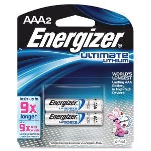 ENERGIZER E2 LITHIUM L92BP-2 Lithium Photo Batteries (AAA; 2 pk) ()