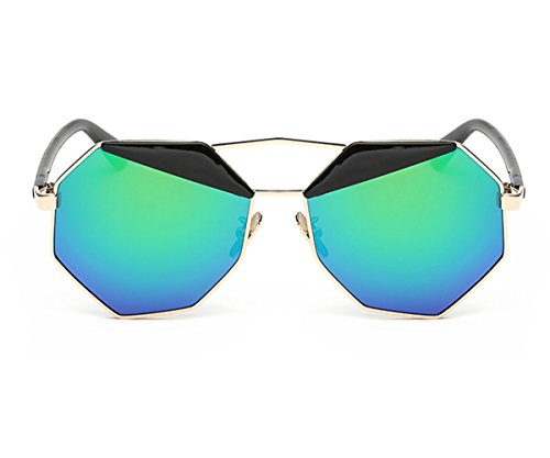 Heartisan Personalized Eyebrow Polygon Full Frame Sunglasses for Womens - Kim Aviator Kardashian Sunglasses Big