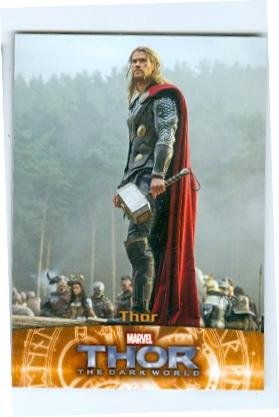 Chris Hemsworth trading card Thor 2013 Upper Deck Marvel #61 by Autograph Warehouse