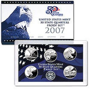- 2007 S US Proof set Stat Quarters Comes in original Packaging From the US Mint Proof