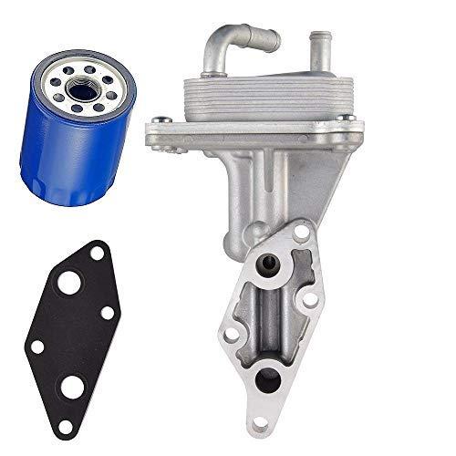 Engine Oil Cooler with Gasket,Compatible With Nissan 2007-2013 Altima 2.5L,2007-2012 Sentra 2.5L,2007-2013 Rogue 2.5L,2004-2013 Frontier 2.5L,Replaces# 21300-JA06A,21304-JA00A,21300-JG31A