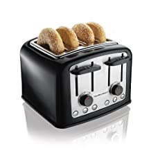 Hamilton Beach 24444 4 Slice SmartToast Toaster, Black and Stainless