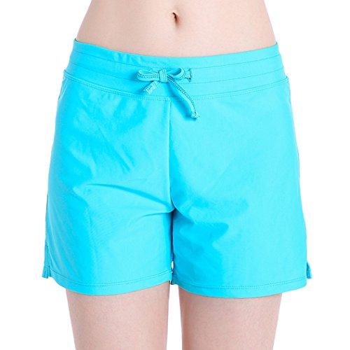 Gorgeous Short (HOLYSNOW Women's Stretch Board Short | Briefs Inner Lining | Comfort Quick Dry (S(US 4-6), Aqua))
