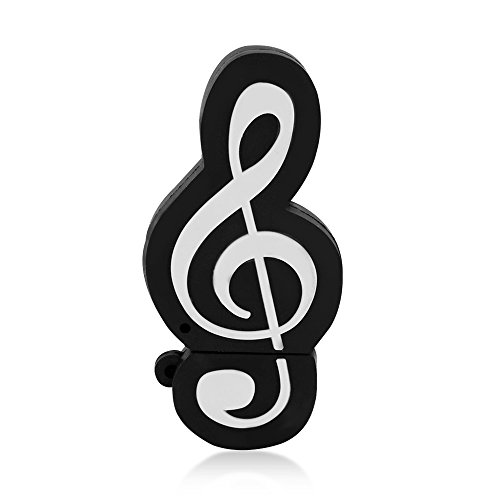 State Musical Keychain - Usbkingdom 32GB USB 2.0 Flash Drive Cartoon Cute Musical Music Note Shape USB Thumb Drive Memory Stick Pendrive Flashdrive