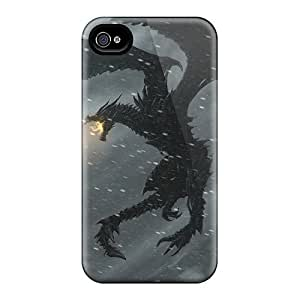 Premium Skyrim Back Covers Snap On Cases For Iphone 4/4s
