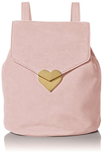 Dear Drew by Drew Barrymore mini Me Suede Backpack With Heart Closure, ballerina