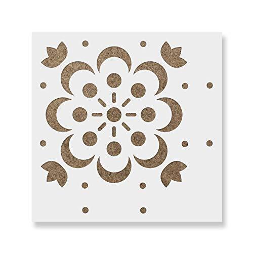 Dagmar Tile Stencil - Reusable Floor & Backsplash Scandinavian Tile Stencils for Home Decor, Furniture, and Walls 12