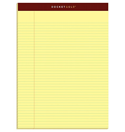 Rule 50 Sheet Pads (TOPS Docket Gold Writing Pads, 8-1/2