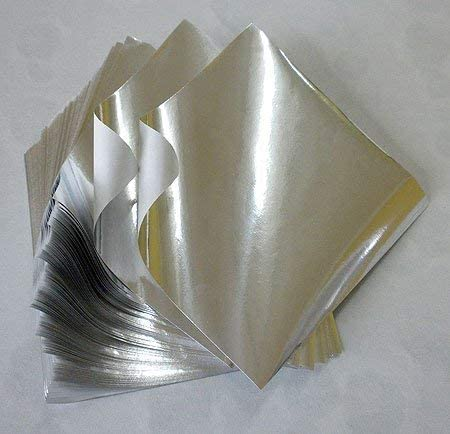 Foil Origami Paper- Silver 3.5 Inch Square 100 Sheets