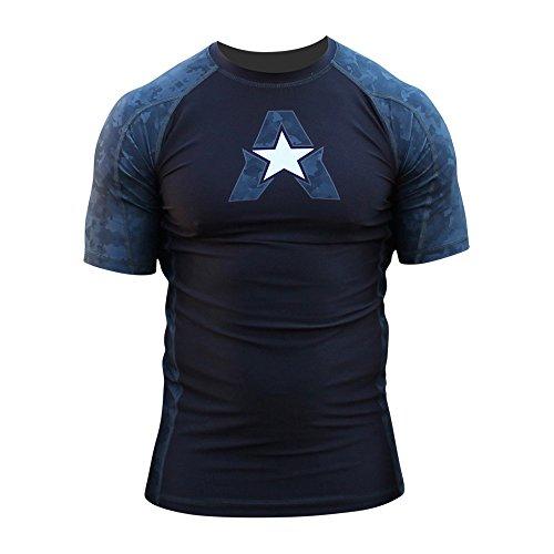 NEW! 10+ Styles - Anthem Athletics HELO-X Short Sleeve Rash Guard Compression Shirt - BJJ, MMA - Night Camo - X-Large ()