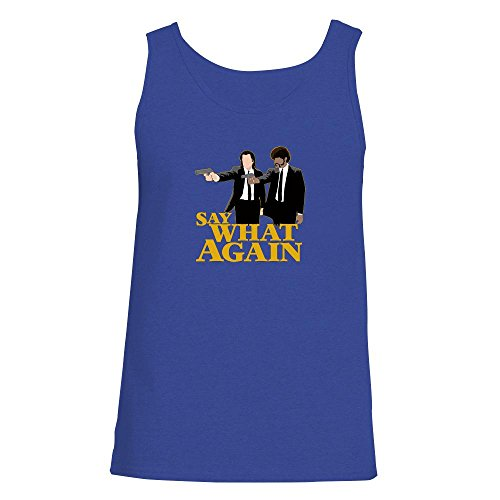 Wallace Royal Thread (Pop Threads Say What Again Minimalist Movie Royal Blue XL Mens Tank Top by)