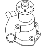 72165269 New Water Pump Made to fit Minneapolis Moline Tractor Models 2-62 2-65