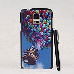 GJYFlying Balloon House Pattern PC Hard Case with A Stylus Pen for Samsung Galaxy S5 I9600
