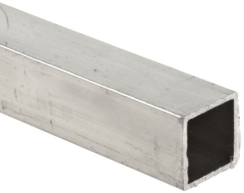 Aluminum 6063-T52 Square Tubing, ASTM B221, 2'' x 2'', 1/4'' Wall, 96'' Length by Small Parts