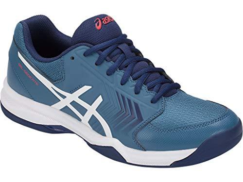 (ASICS Gel-Dedicate 5 Azure/White Men's Tennis Shoes)