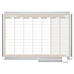 Mastervision - Weekly Planner 36X24 Aluminum Frame \
