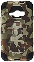 HR Wireless Cell Phone Case for Samsung Galaxy J1 - Camouflage Brown/Black