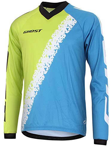GHOST Jersey All Mountain long man Langarmtrikot Grün Blau Modell 2015 (XL)