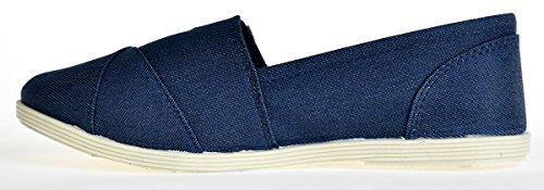 Soda Women Object Flats-Shoes Dunkler Denim