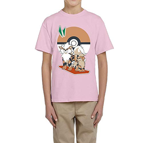 growlithe pokemon t-shirt pokemon kid tshirt children clothing boy girl toddler