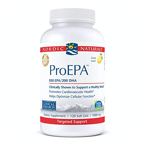 Nordic Naturals ProEPA, Lemon – 120 Soft Gels – 1210 mg Omega-3 – High-Intensity EPA Formula for Healthy Mood, Heart…