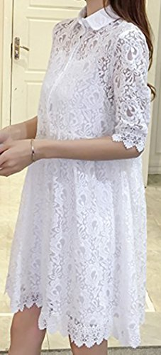 erdbeerloft - Vestido - Floral - Manga corta - 50 DEN - para mujer