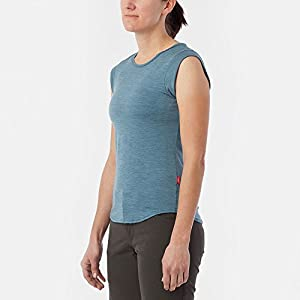 Giro Women's CA S/L Ride Jersey-Monterey Blue Heather-L