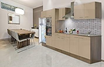 respekta Einbau Küche Küchenzeile Küchenblock 360 cm Eiche York ...