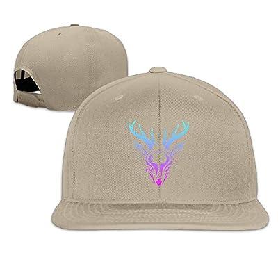 Athletic Snapback Print Starry Deer, 100% Cotton Adjustable for Men Women