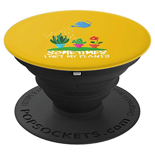 Yellow Garden Botanical Gardening Gift for Gardener - PopSockets Grip and Stand for Phones and Tablets (Shop Gardeners The)