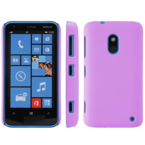 handy-point COBI Hülle aus gummiertem Kunststoff Kunststoffhülle Hülle Schale Schutzhülle Handyhülle Handyschale Hardcase für Nokia Lumia 620 Lila Violett