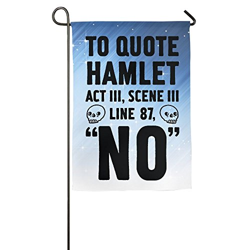 Hexu To Quote Hamlet Act III, Scene Iii Line 87, No Family Garden House Home Demonstration Decorative Flag 1218inch