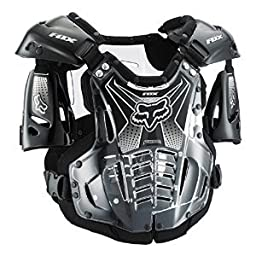 Fox Racing Airframe Men\'s Roost Deflector Off-Road Motorcycle Body Armor - Black/White / Medium