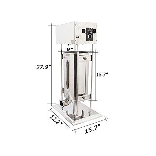 Techtongda 110V Electric Sausage Stuffer Meat Filler Maker Making Machine Commercial 15L