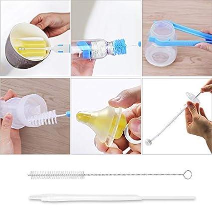 Amazon.com: Bebé cepillo para polvo para botellas juego de ...
