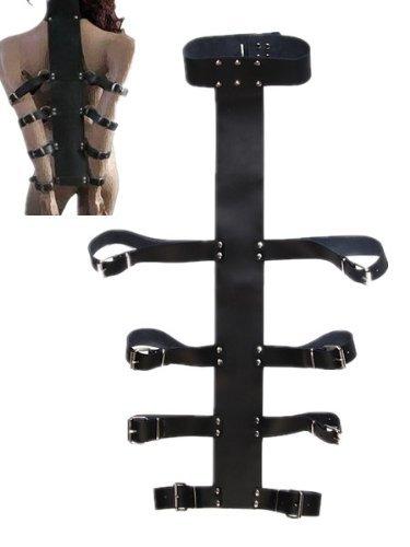 Strict Armbinder Belts Collar Harness Restraint Fetish Sex ARM Belt Binder Restraint for Kinky Sexy FUN and Fancy Dress Unisex Leather Sm 259 SEX Bondage J1939#D1 by Sex Toys > Bondage Kits