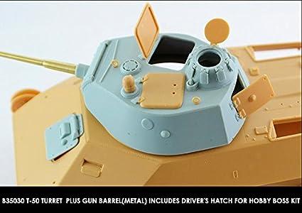 Miniarm 1:35 Soviet T-50 Turret Gun Barrel Driver Hatch for Hobby Boss #B35030