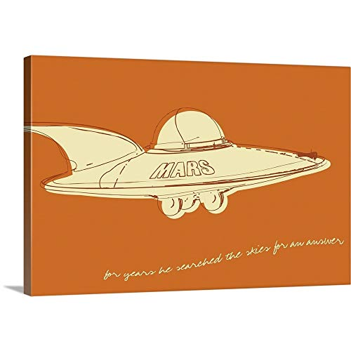 GREATBIGCANVAS Gallery-Wrapped Canvas Entitled Lunastrella Flying Saucer by John W. Golden -