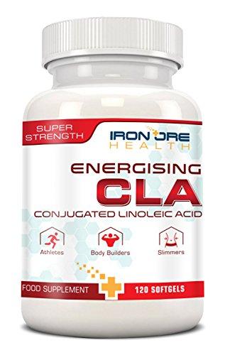 CLA - 1000 bis 3000 mg Pro Dosis - 120 Softgel-Kapseln für Super Muskelaufbau - Unterstützt die optimale Körperzusammensetzung - Die beste Ergänzung für den Körperfettabbau und den Muskelaufbau