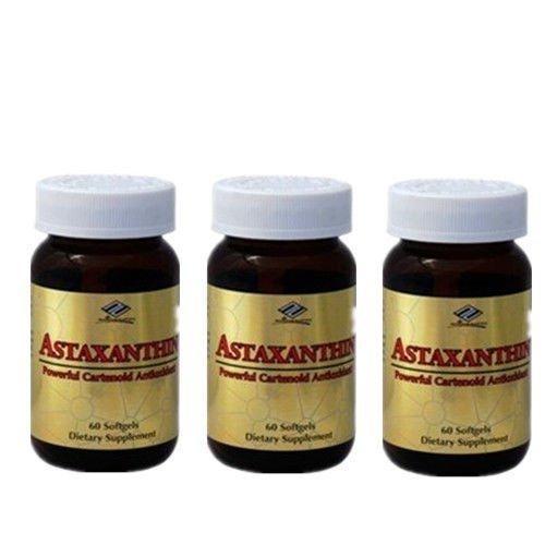 3 x Astaxanthin 10 mg 60 SGels Powerful Cartenoid Antioxidant, FRESH by Siam Center One by Siam Center One